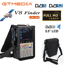 """GTmedia V8 مكتشف متر الرقمية الأقمار الصناعية مكتشف HD DVB S2/S2X ACM عالية الوضوح 3.5 """"LCD مع بطارية 3000mAh LNB Sat مكتشف"""