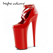 Size 34-43 Super High Thin Heels Shoes Spring Autumn Red Pum