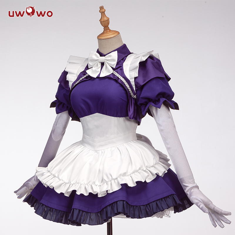 UWOWO  Anime Fate/Grand Order Joan Of Arc Cosplay Costume Women Maid Uniform Dress Halloween Costume Cute Dress For Women