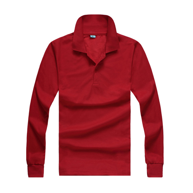 Free shipping 2018 long sleeve mens   polos   shirts casual mens lapel   polos   shirts solid color mens slim fashion tops 10 colors