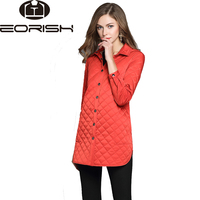 2017 New Winter Long Quilted Jackets For Women Long Cotton-padded Coats Female Army Green Black Khaki Red Large Size