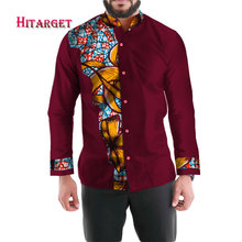 Mens Shirt 2019 New African Clothing Long Sleeve Dashiki for Men Slim Fit Brand 6XL Print Shirts WYN335
