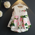 Anlencool Grils Clothes  Fashion Summer Style Girl Clothing Sets Sleeveless Fruit Print Vest+Shorts 2Pcs for Kids Clothes
