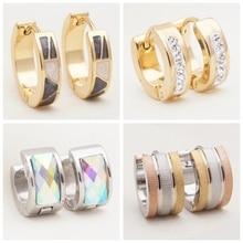 Yunkingdom 32 пары, разные стильные модные геометрические серьги из нержавеющей стали, маленькие круглые серьги-кольца для женщин, девушек, ювелирные изделия в стиле панк