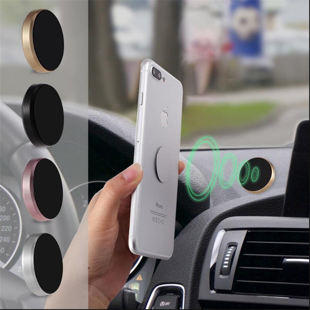Mobile Phone Accessories Cellphones & Telecommunications Smart Magnetic Car Phone Holder Universal Wall Desk Metal Magnet Sticker Mobile Stand Phone Holder Car Mount Support For Iphone X 7 Xs