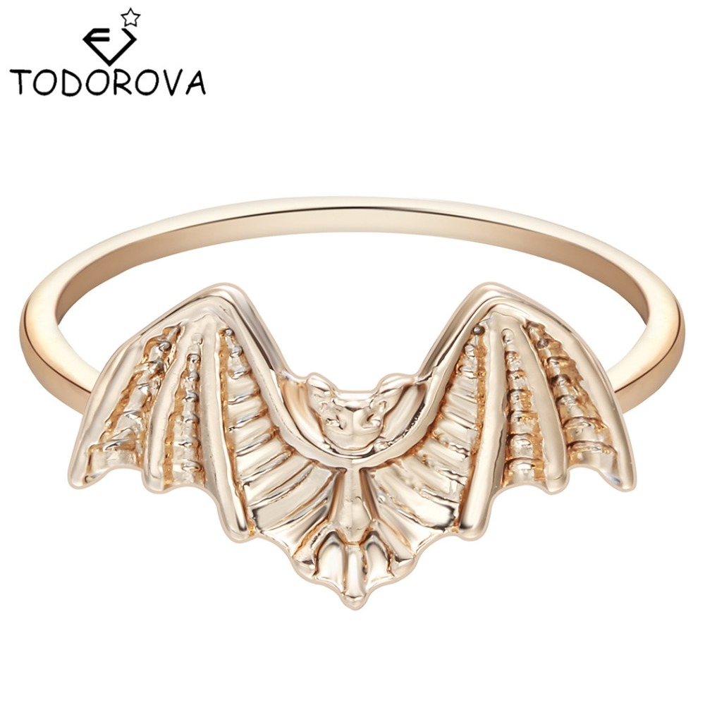 Todorova Steam Punk Bat Knuckle Ring Stackable Ring Halloween Gift Jewelry Chinese Goods Women's Finger Rings