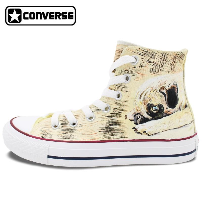 High Top Converse All Star Women Men Shoes Custom Pet Dog Pug Original Design Hand Painted Shoes Man Woman Sneakers Best Gifts laser level auto ada phantom 2d