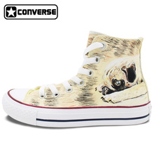 High Top Converse All Star Women Men Shoes Custom Pet Dog Pug Original Design Hand Painted Shoes Man Woman Sneakers Best Gifts