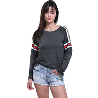Fashion New Style Women Tops Tees O Neck Cotton T Shirt 2018 Spring Winter Autumn Long