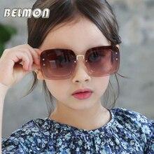 Fashion Kids Sunglasses Brand Designer Sun Glasses Boys&Girls Baby Suitable For Children Aged 5-12 Gradient RS330