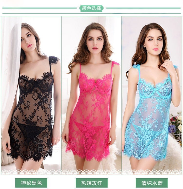 <font><b>Sexy</b></font> <font><b>Lingerie</b></font> <font><b>Push</b></font> <font><b>Up</b></font> Porn Girls <font><b>Sexy</b></font> Transparent Nightwear Ladies Slip See Through Lace Women Support Sleepwear <font><b>Sexy</b></font> Nightgowns image