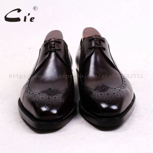 Ci'e –  Handmade, Pure Genuine Calf Leather Out sole, Breathable, Full brogues, Men's Derby Brown Shoe