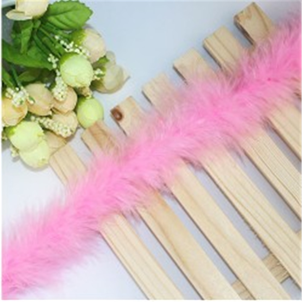Light Purple Feather Boa Strip Fluffy Craft Costume Dressup Wedding Xmas