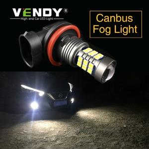 2x H8 H11 H10 H16 9006 HB4 PSX24W High Power 27 SMD 3030 LED 12V Car Auto Lights Bulb Lamp For Toyota Subaru Honda Chrysler JEEP(China)
