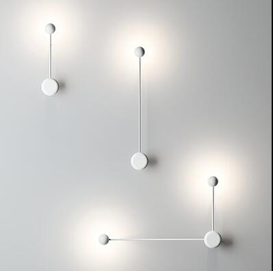 Nordic Desinger Wall Lamp Led Personality Lving Room Light Cafe Art Simple Bedroom Light Studio Light