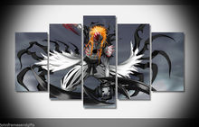 Hollow ichigo bleach anime print poster canvas decoration 5 pieces  20x35cmx2,20x45cmx2,20x55cm