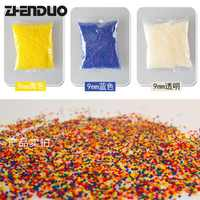 Zuanlong Free Shipping 30000pcs 9-11 Mm Electric Water Pistol Bullets Crystal Bouncing Bumper Gun Toy Accessories Most