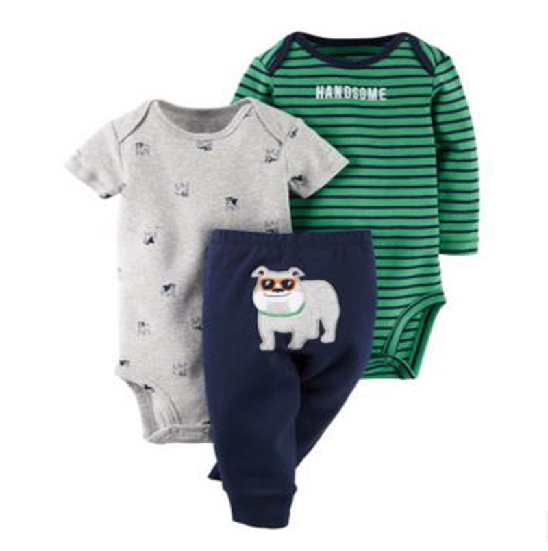 Original kids bebes Baby Boys Girls Clothings Sets, newborn infant boy Baby Models (Bodysuits+Pants) Set hot sell