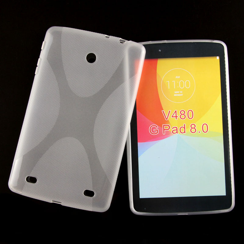 Anti-skid Matte Waterproof X Line Soft Silicon Rubber TPU Gel Skin Cover Protector Pouch Case For LG G Pad V480 V490 8.0 inch x line tpu case gel silicone tablet case skin rubber cover pouch sleeve bag for sony xperia z3 8 0 tablet compact sgp621 sgp641