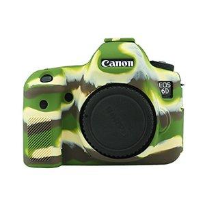 Image 4 - Armadura de silicone pele caso capa do corpo protetor para canon eos 6d corpo dslr câmera só