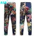 A15 leggings flor meninas criança legging clássico primavera 2017 para crianças roupa Da Menina Calças Leggings De Fitness 9 10 12 Anos de Idade velho