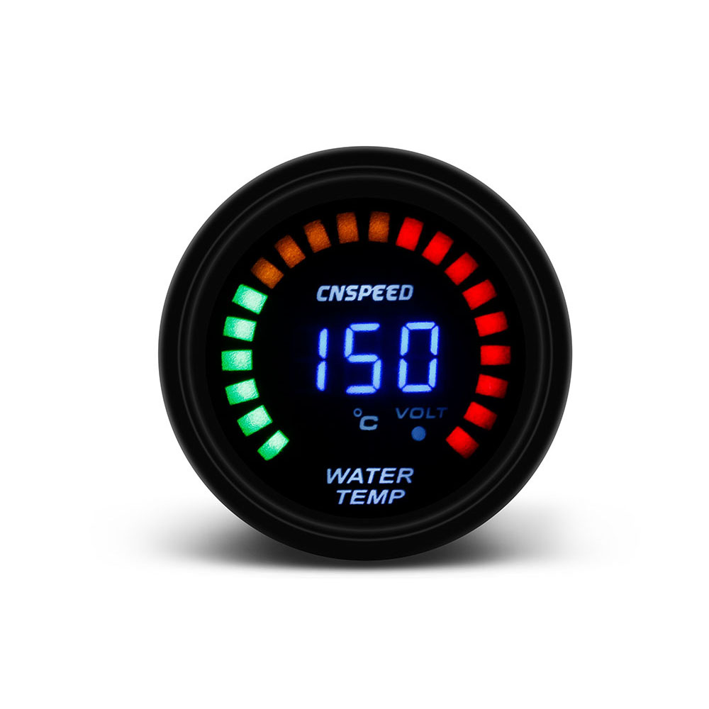 CNSPEED 52mm 2 Inch LCD Digital Car Water Temp Gauge With Sensor Water Temperature gauge Car meter TT101272 цена 2017