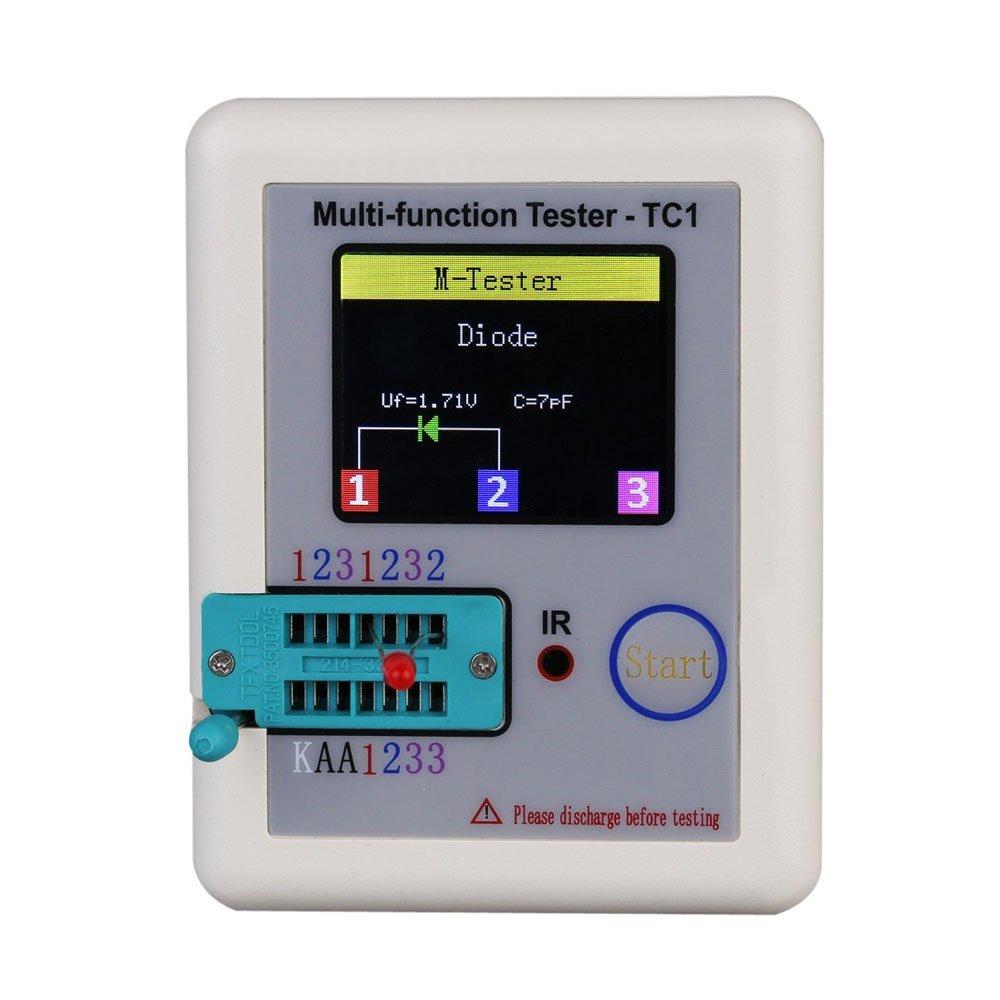 Newest Transistor Tester TFT TC-1 Diode Triode Capacitance Meter LCR ESR meter NPN PNP MOSFET IR Multifunction tester multimeter цена