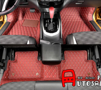 Red Inner Car Foot Mat Decoration Trim Interior Car Styling 7pcs For Nissan Qashqai 2015 2016 car styling