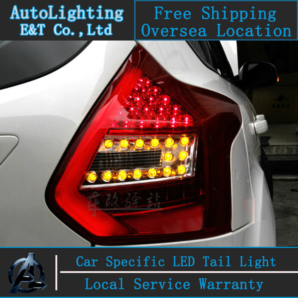 Car Styling LED Tail Lamp for Ford Focus taillight assembly 2012-2014 Focus3 led tail light drl rear lamp signal light with 4pcs car taillight for ford focus 3 sedan 2011 2012 2013 2014 car led 12v rear lights kit modification tail lamp lights auto lamps
