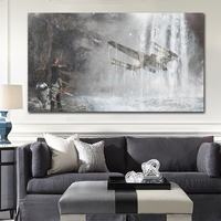 Imagination Of The Force Navy Starwars Wall Art Pictures Modern Paintings Movies Print On Canvas Oil