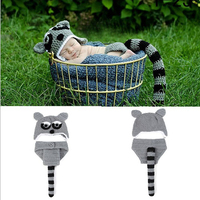 Gofuly NEW Top Brand 2016 New Hat And Pant Costume Photography Prop Baby Cute Leopard Cat