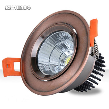 European style Dimmable Led downlight COB Spot Light 4w 10w 15w recessed Lights Bulbs Indoor Lighting 85-265VAC