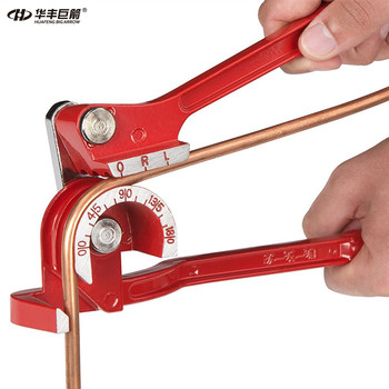 Tube Bender Brake Line Tubing  5/16 and 3/8 Forming Bending Bender Tool Pliers 6mm/8mm/10mm 3 In 1 Pipe and Tube Bending Machine 3 in 1 90 degree aluminum alloy pipe tube bender copper tube air conditioning tube manual elbow hand tool 6mm 8mm 10mm