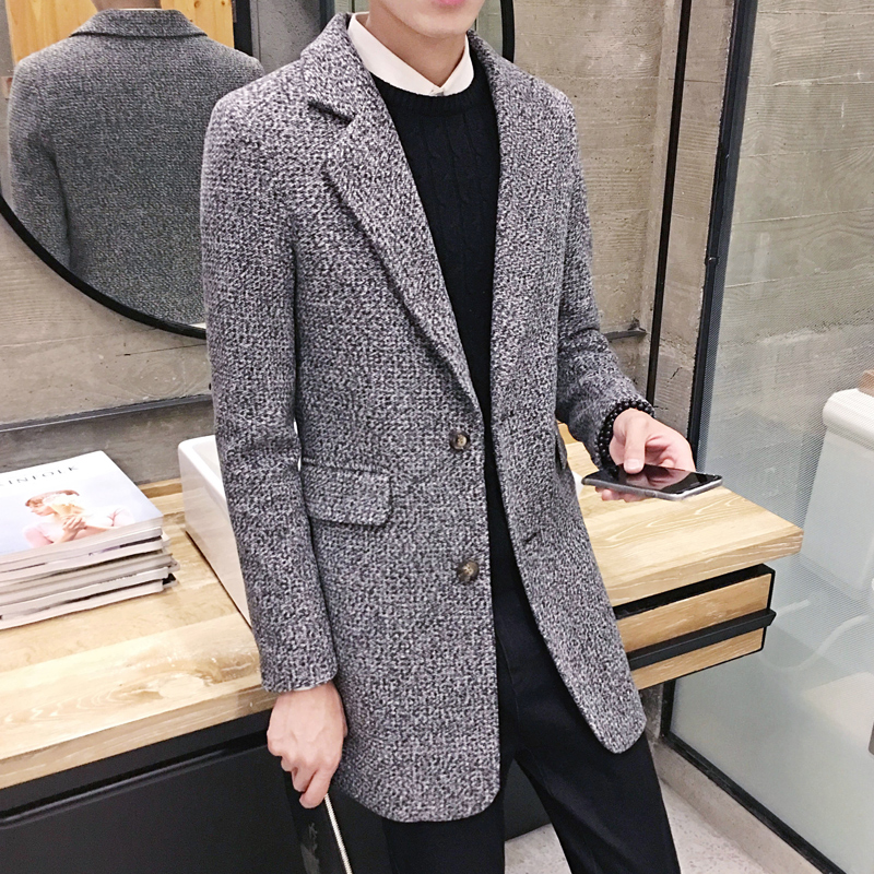 Men's new fall Gentleman and long sections   Trench   High quality men's woolen coat