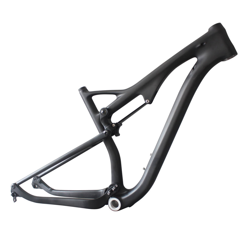 29er full suspension carbon frame mtb bike frame ICAN brand size 15.5/17.5/19/21 BSA thru axle 110mm rear travel AC036 2017 flat mount disc carbon road frames carbon frameset bb86 bsa frame thru axle front and rear dual purpose carbon frame