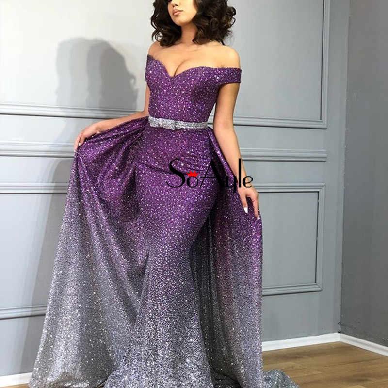 SoAyle роскошное Красочное платье для выпускного вечера es 2018 расшитое блестками платье для выпускного бала без рукавов свадебное вечернее платье vestido de noiva Longo