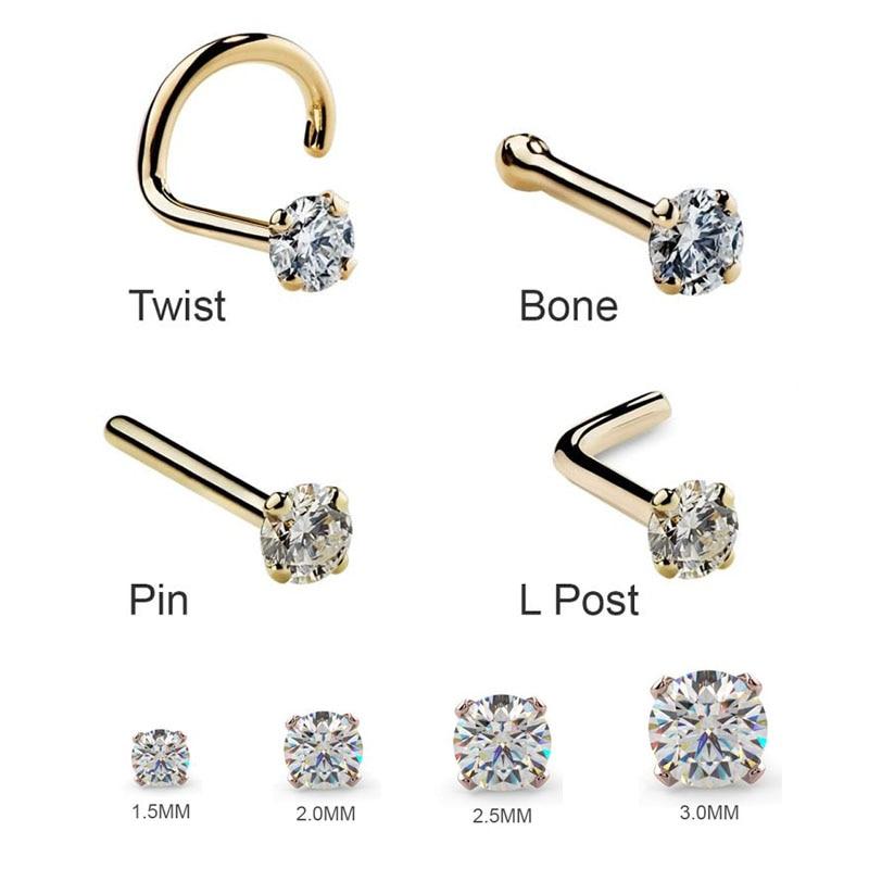 Fine Stainless Twist Nose Lip Ring Stud Earrings Bar Body Piercing Jewelry OC