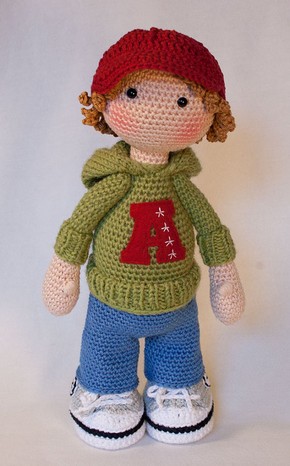 Crochet Toys For Boys : Crochet for doll sports boy toy rattle in baby rattles