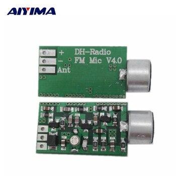 AIYIMA Mini FM ไมโครโฟนโมดูลเครื่องส่งสัญญาณ FM MIC เครื่องส่งสัญญาณไร้สาย 100 เมกะเฮิร์ตซ์ Mini Bug Wiretap Dictagraph Interceptor