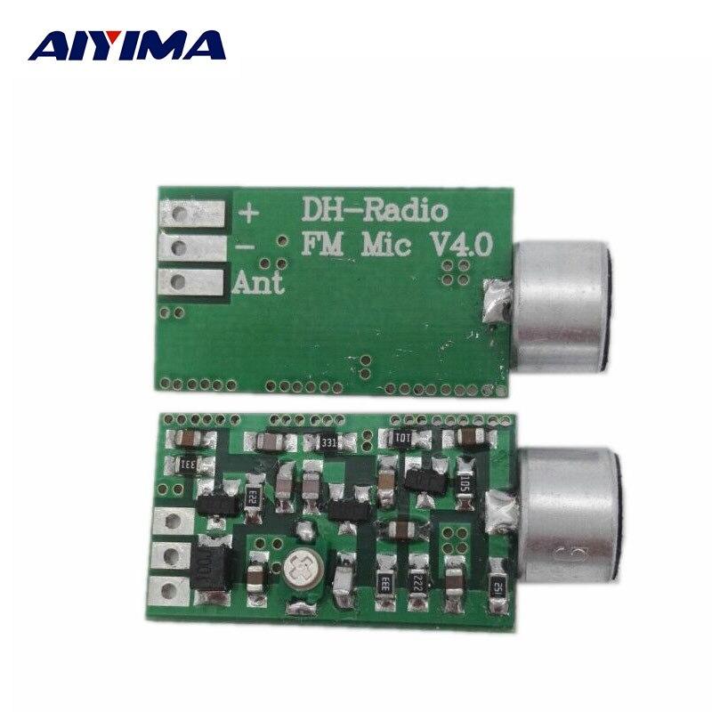 AIYIMA Mini FM Modulo Trasmettitore FM Microfono MIC Audio Wireless Trasmettitore 100 MHz Mini Bug Intercettazioni Dictagraph Interceptor