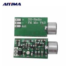 AIYIMA Mini FM Microphone FM Transmitter Module MIC Wireless Audio Transmitter 100MHz Mini Bug Wiretap Dictagraph Interceptor