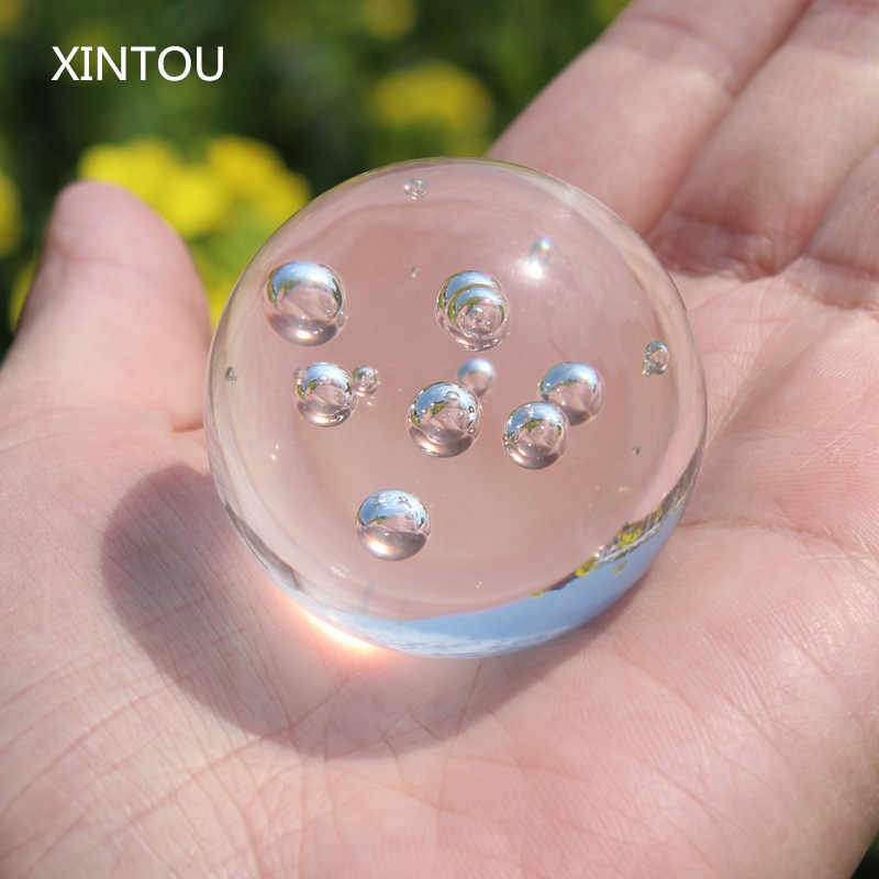 XINTOU 40 mm Crystal Decorative water fountain Bubble Ball Natural Feng shui Home indoor fountain Balls For Christmas Home Decor