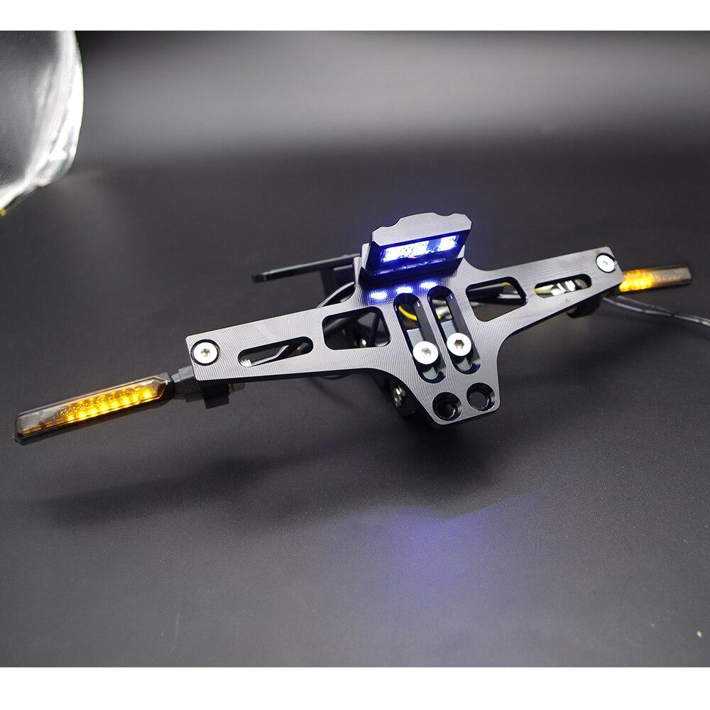 CNC accessoires de cadre de plaque d'immatriculation de moto pour cb650f yamaha r1 2015 tmax 530 suzuki gsr 600 suzuki gs 500 pour honda