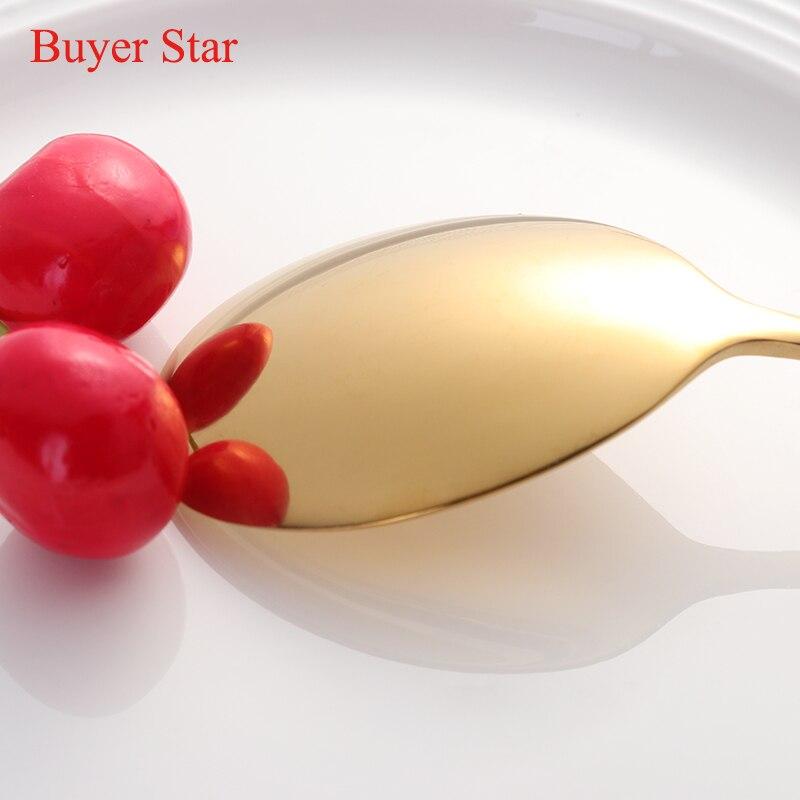 2pcs/lot Gold Chopsticks Spoon 304 Stainless Steel Korean Reusable Black White Hashi Sushi Sticks Kitchen Accessories