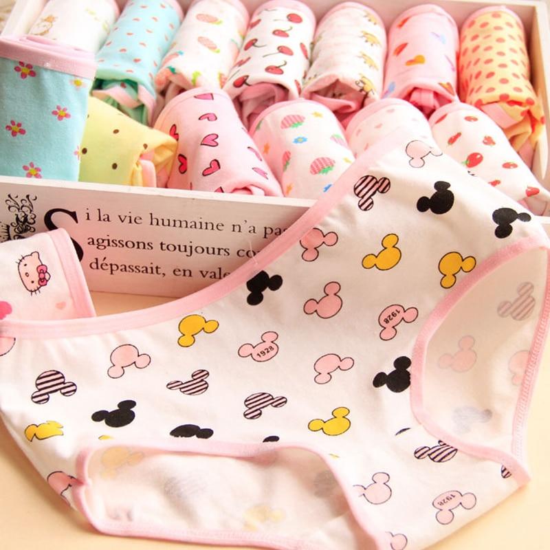 Hot Candy Color Panties 4pcs/lot Girl Briefs Lovely Low-waist Panties Student Soft Briefs Cotton Underwear LingerieNH0017