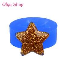PYL224 moule en Silicone étoile 20.8mm, pour pâtisserie, outil de décoration de gâteaux, bonbons, chocolat, résine polymère, argile, pendentif de fabrication de bijoux