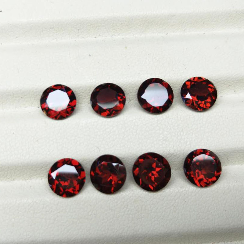 все цены на Tbj ,natural mozambique garnet round cut 8mm ard 2.2ct 2 piece in one lot 925 silver jewelry mounting,loose gemstones