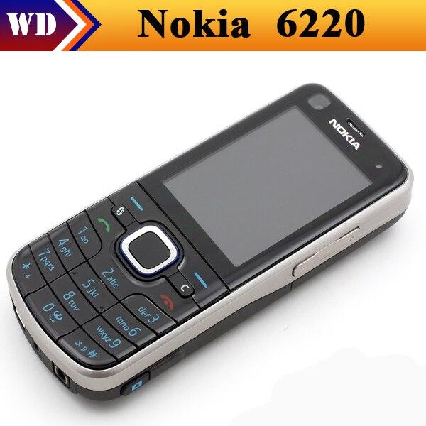 Цена за Nokia 6220c, разблокированный 6220 классическая мобильных телефонов bluetooth GPS mp3 плеер