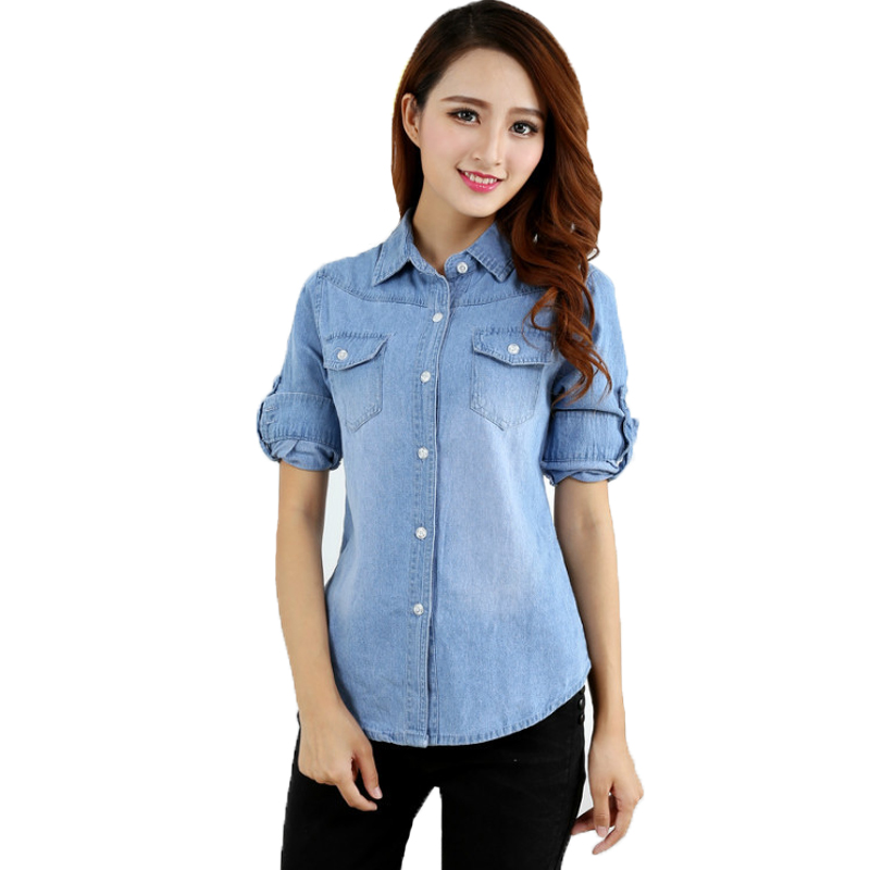 Denim shirt for girls images for Jeans and shirt women