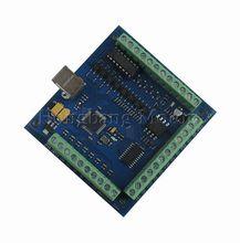 Бесплатная доставка чпу usbcnc mach3 usb 4 оси 100 кГц гладкой шагового motion controller card breakout совета для станков с чпу гравировки 12-24 В